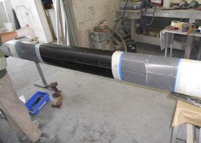 Psaros 40 Mât Oyster Finalisation de réparation du mat