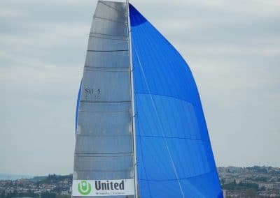 Psaros 40 Outsider 5 sous spi Top voiles