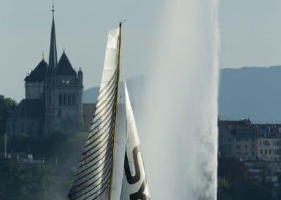 Psaros 40 SUI 100 Syz and CO Lac Léman Jet d'eau de Geneve